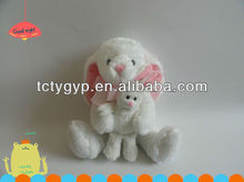 Sweet Plush/stuffed rabbit mother hold a baby rabbit toys