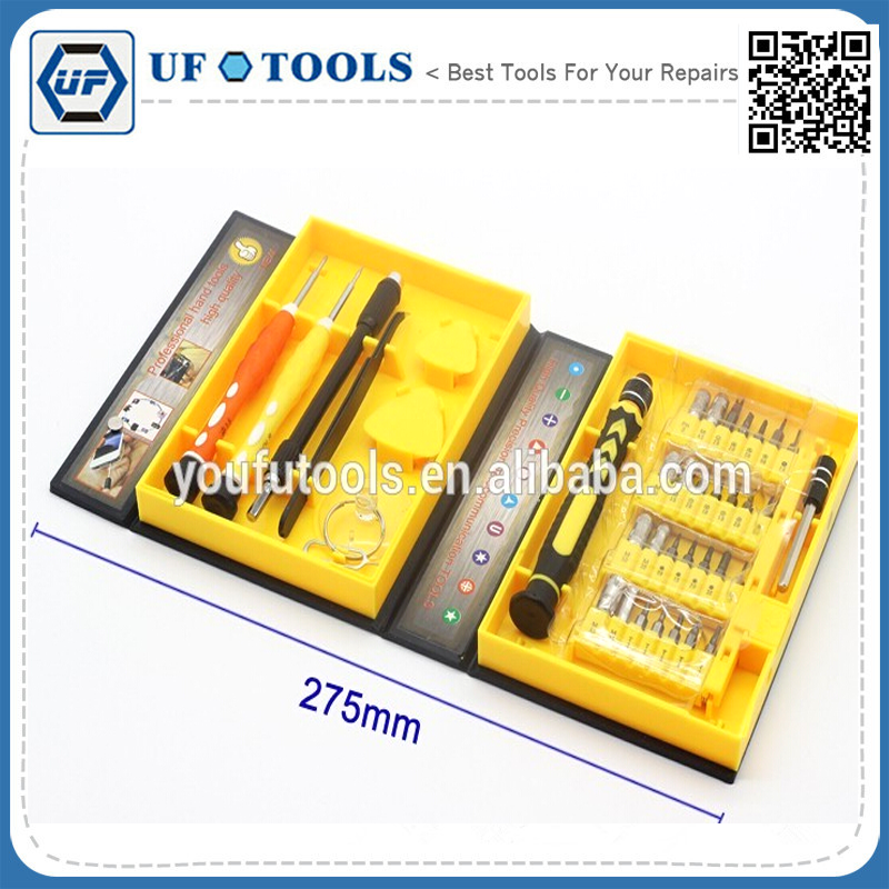 wholesaler 38 in 1 K-3801 CRV Material Cell Phone Precision Screwdriver Kit Set for iPhone Samsung HTC Laptop PC Repair Tools