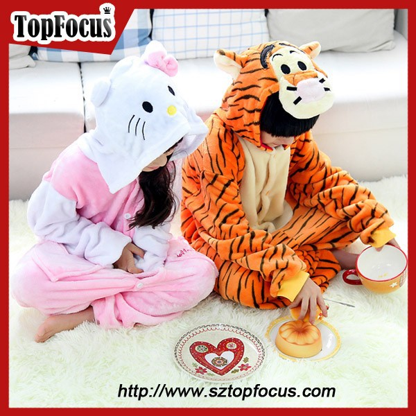 new funny romper tiger onesie cheap kids thermal pajamas wholesale