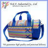 Rainbow color Stripes Canvas Small Leisure Duffel Bag