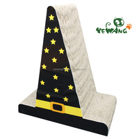 2016 New design hat shape corrugated cat scratch board