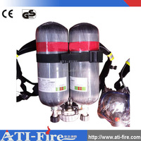 SCBA equipment used with double carbon fiber cylinder