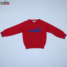 Hot Sale Infant Boys Wear Knitted cotton Pullovers Outerwear Long Sleeve Baby Crocodile printed Sweater