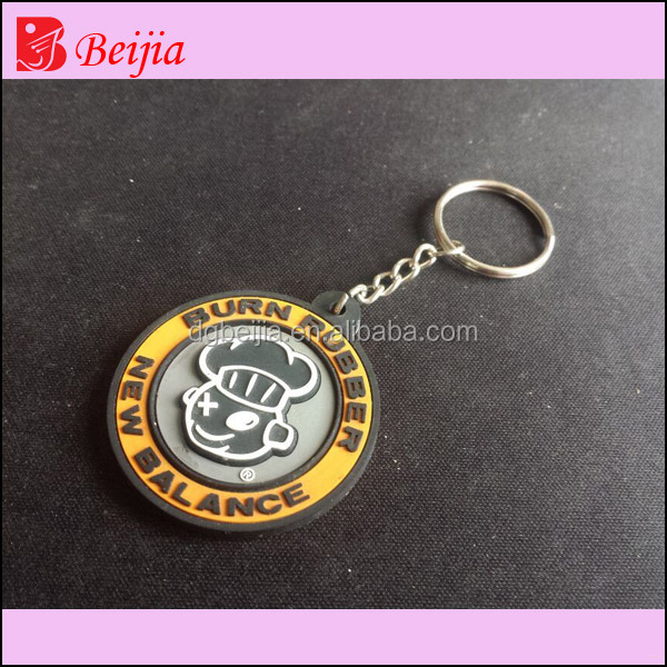 High quality Silicon keychain /cheap custom shaped Soft 3d pvc keychain /Rubber key chain