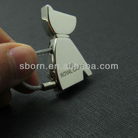 New Design Wholesale Metal dog shape Key Ring
