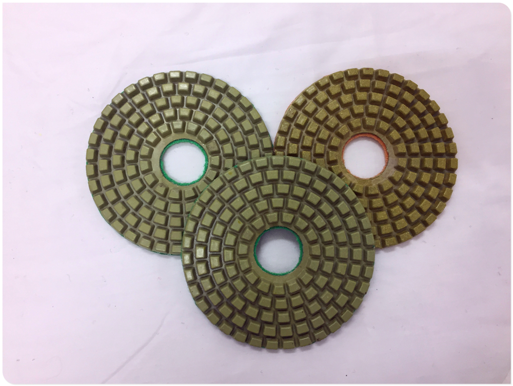 "4"" stone dry diamond hand polishing pad"
