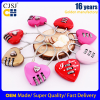 CH-28B built in combination luggage heart shape lock