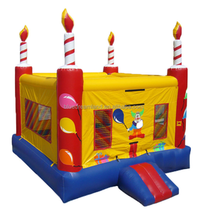 Professional factory sale birthday cake inflatable castle bouncer for toddlers