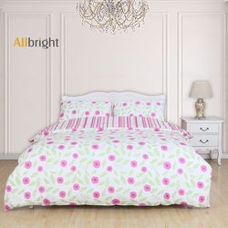 ALLBRIGHT 100% cotton country style fabric printing cot bedding set baby girl