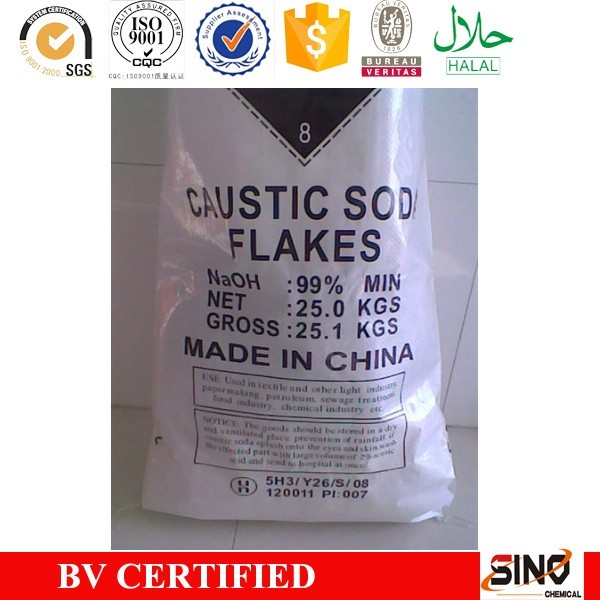 SGS certificate quality sodium hydroxide caustic soda flake 99% price