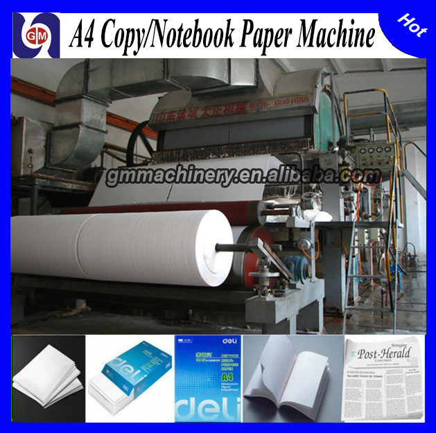 1575mm 10T/D Fourdrinier and Multi-dryer a4 Paper Production Line,a4 Copy Paper Making Machine