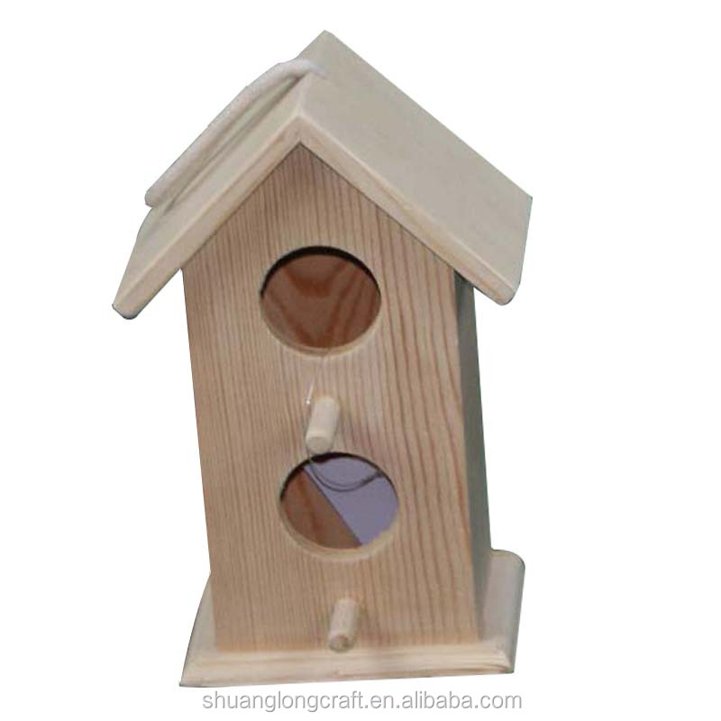 Hot sales pine paulownia wooden bird cage