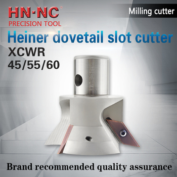 HEINER XCWR angle fine milling cutter 45/55/60 degree dovetail slot CNC milling cutter reverse chamfer milling cutter