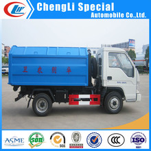 Top ranking Foton mini Garbage Trucks with hook arm lift for sale
