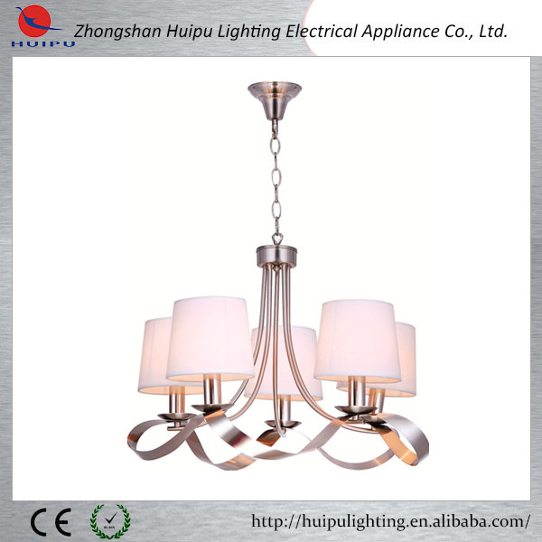 Satin nickel plating finish home decorate chandelier lighting