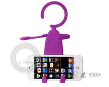 Multicolor Flexible Silicone Phone Holder With Metal