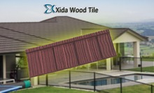 Cheap and durable building material wood stone coated metal roofing tile