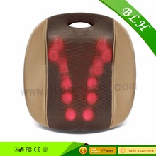 Green/Red Shiatsu Massage Cushion with Heat for Lower Back