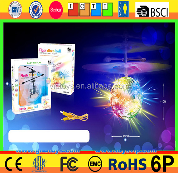 3 seconds Auto Start Fly flashing light ball toy