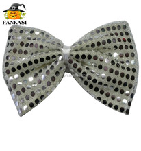 Big sequin clown bow tie party costume accessory