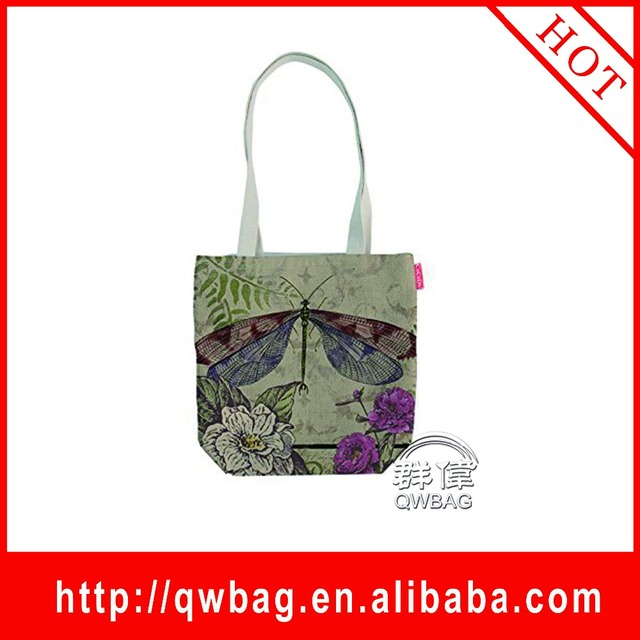 2016 Fashion design lady cotton handbags canvas bag manufacturer