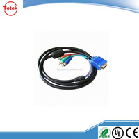 High Quality VGA to 3 RCA component AV adapter cable