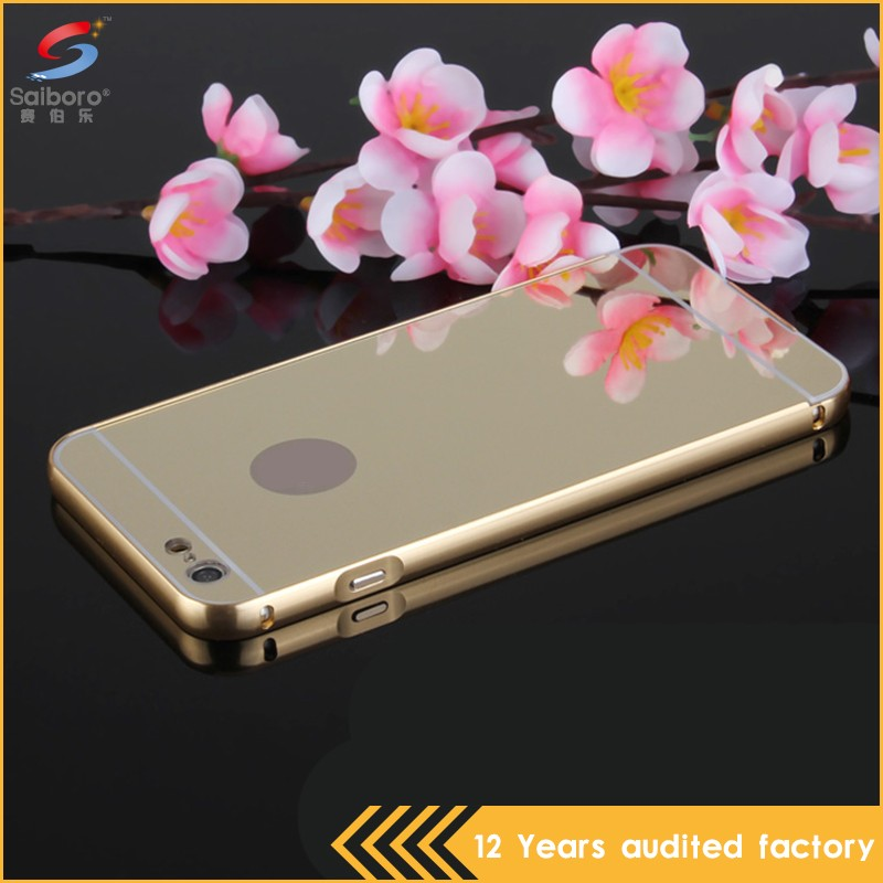 Customized electroplated mirror custom aluminum for iphone 7 case