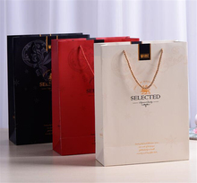 wholeasle wine promotional luxury paper shopping bag