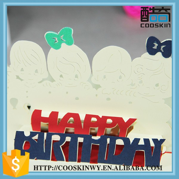 Sell well new type happy birthday wholesale handmade card