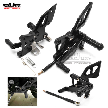 BJ-ARS-R3B Motorcross CNC Racing Adjustable Rearset Foot Pegs Rear Sets for Yamaha Yzf R3 R25