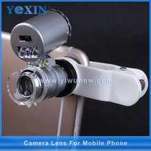 60x zoom microscope macro lens for mobile phone with LED use for Jewelry,coins ,stamp , and skin