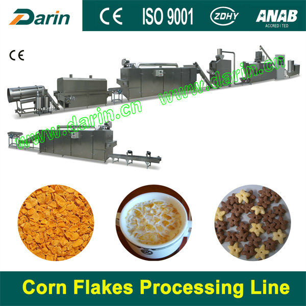 extruder technology food processing equipment to make corn flakes