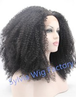 high quality afro kinky curly wigs for black women synthetic lace front wig heat resistant Synthetic Hair brazilian hair
