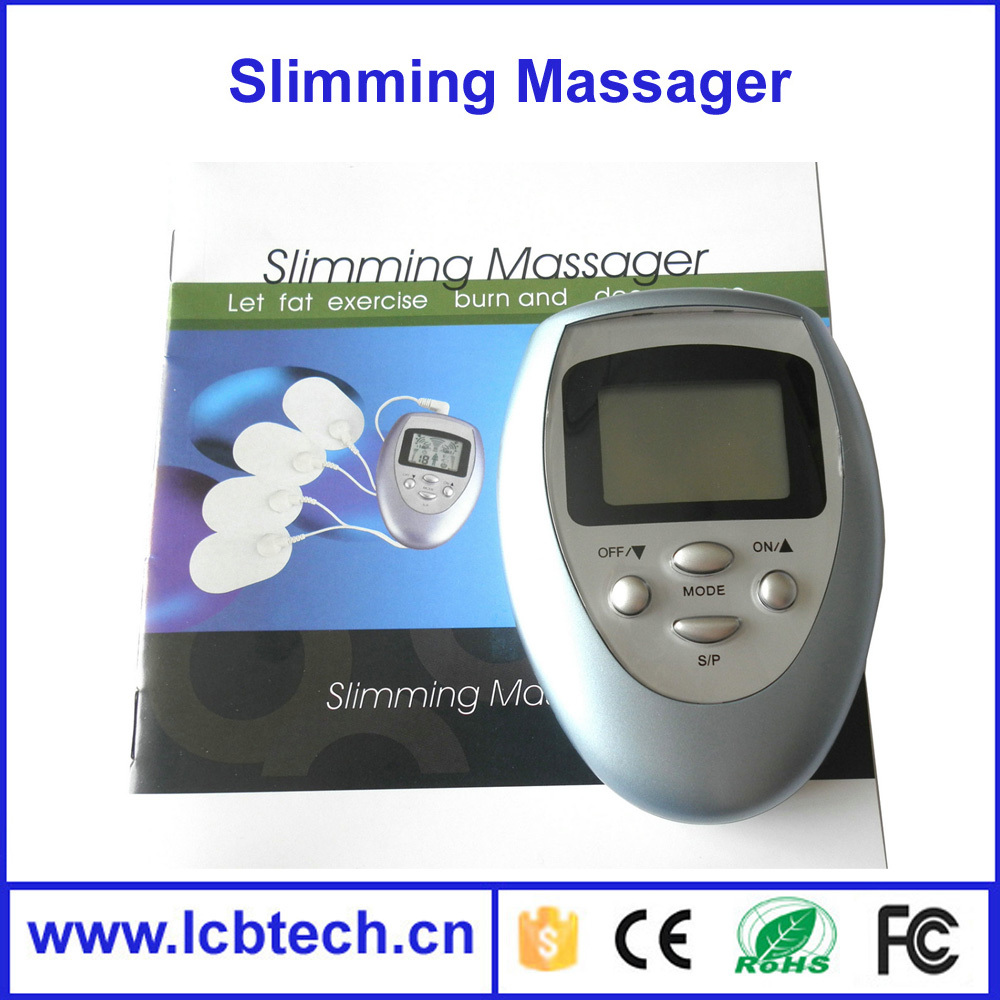 Low price Pulse Muscle Pain Relief Fat Burn Relaxation Tens Therapy Massager With LCD Screen Electric Slimming Massager