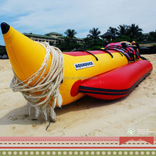 HOT!!! big size funny flyfishing water game 0.9mm durable pvc tarpaulin inflatable rubber sport boat