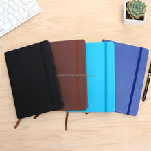 Stationery Leather Notebook with Wrap Band School Supply