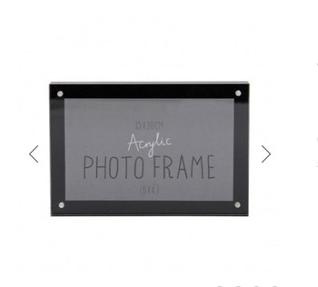 4x6'' Customized black acrylic magnetic photo frame acrylic picture frame