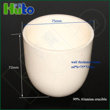 HUTO high quality 130ml alumina corundum crucible