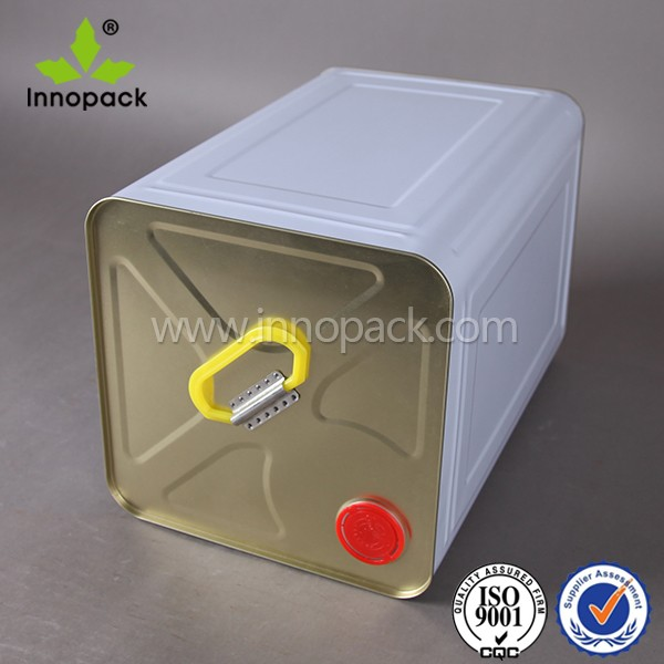 food grade paint metal tin bucket with snap on lid for wine or oil use
