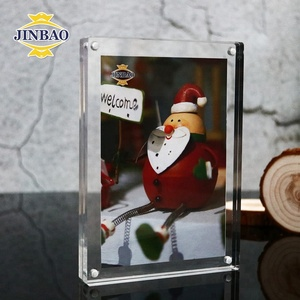 JINBAO custom wholesale latest 6x6 acrylic picture frames 8x10 5x7 6x8 4x6 a4 crystal clear acrylic magnetic photo frame