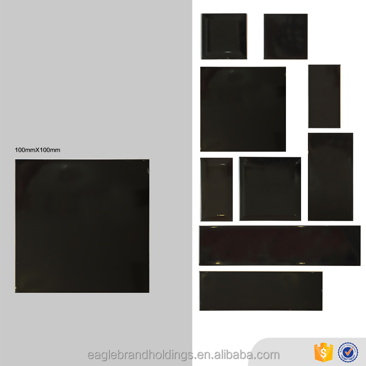 pure black ceramic tile 10x10,glazed glossy wall bathroom tile