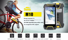 Android7.0 micro USB 5pin 3.5 Audio jack snopow m10 bluetooth BT4.0 rugged phone with back splint and hand scrap