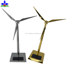 Die casting metal crafts decorative mini solar windmill model