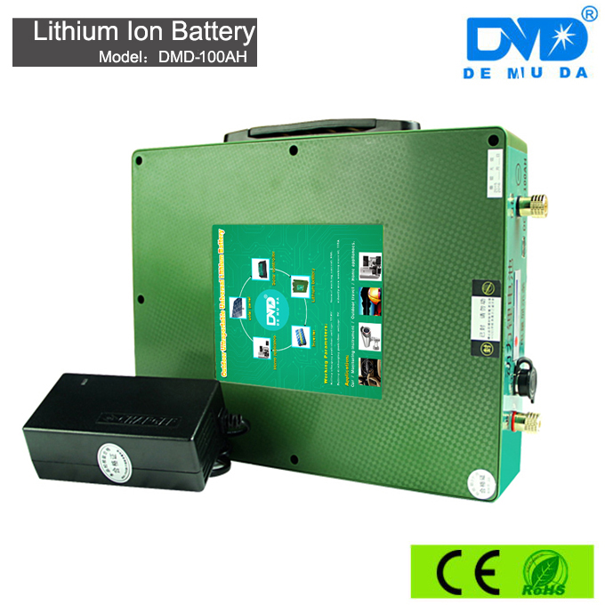 12 volt 100Ah lithium ion rechargeable li polymer Battery for solar system, ups with high quality