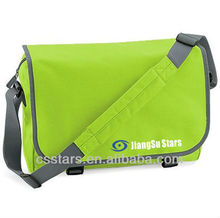 Lime green 600D shoulder messenger bag