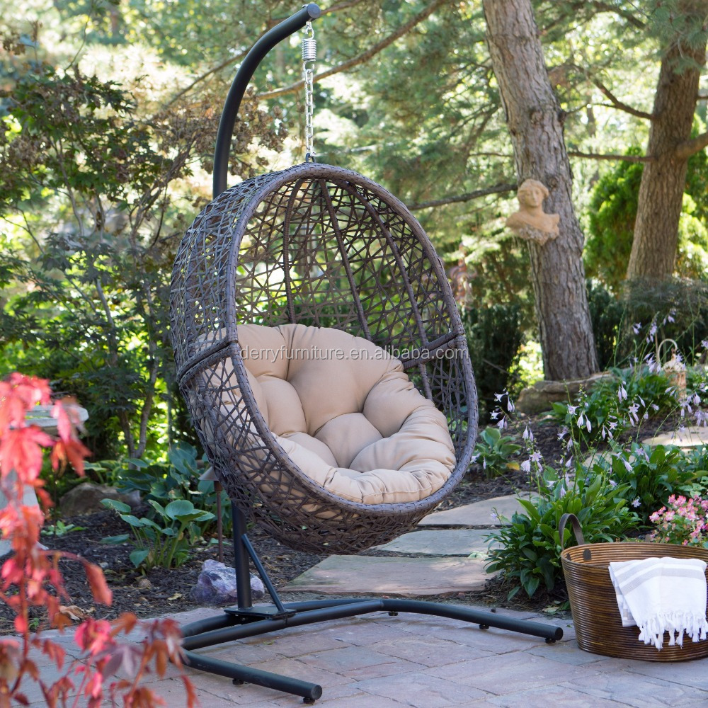 outdoor furniture rattan hanging egg pod chair special garden swing chair - Garden Furniture Pod