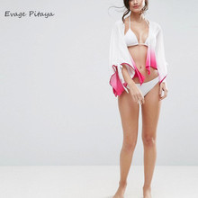 bathing suits Swimsuit Chiffon Transparent Cover Up Sleeves bikini women's beach style clothing