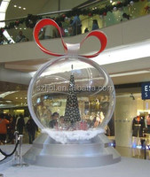 Wholesale plastic hollow ball for Christmas/Plastic Hanging Ball