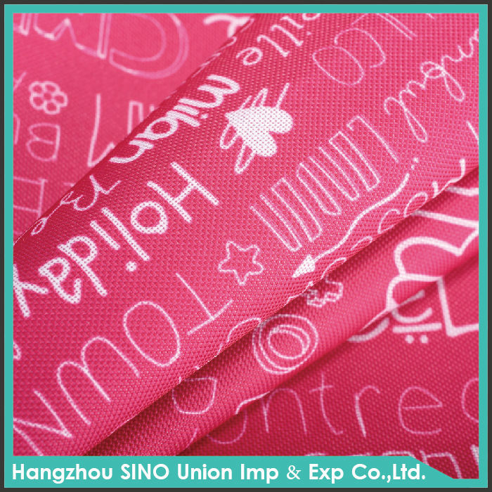 PU coated fabric with printed for computer bags