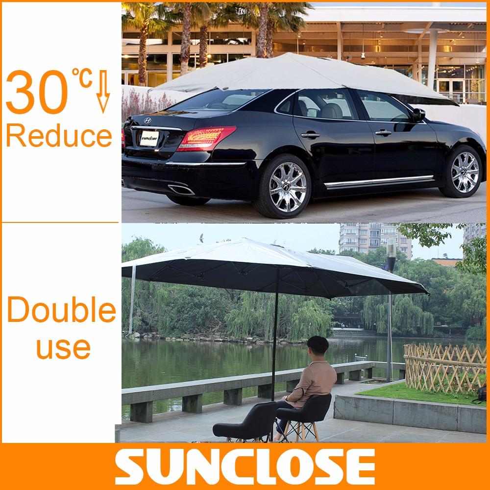 SUNCLOSE pvc/peva/polyester/ nonwoven outdoor party decoration umbrella dustproof motorcycle cover